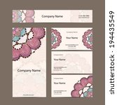 business cards collection ...   Shutterstock .eps vector #194435549