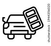 car engine key icon. outline... | Shutterstock .eps vector #1944356020