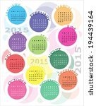 colorful calendar for year 2015.... | Shutterstock .eps vector #194439164