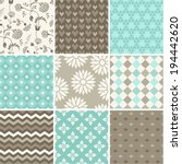 seamless vector patterns set  | Shutterstock .eps vector #194442620
