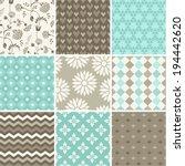 seamless vector patterns set  | Shutterstock .eps vector #194442620