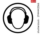 wear ear protection sign.... | Shutterstock .eps vector #1944442066