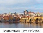 Cityscape Of Prague At Sunrise...