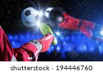 close up image of footballer... | Shutterstock . vector #194446760
