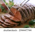an image of roast beef | Shutterstock . vector #194447744