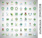Eco Icons Set - Isolated On Gray Background - Vector Illustration, Graphic Design Editable For Your Design
