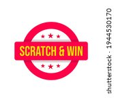 scratch and win games badge... | Shutterstock .eps vector #1944530170