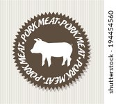 label design over beige... | Shutterstock .eps vector #194454560