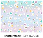 pastel icons   collage   Shutterstock . vector #194460218