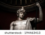 Statue of a young roman warrior, Rome, Italy, 2014