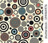 seamless art vector circle... | Shutterstock .eps vector #194464976