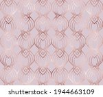 art deco seamless pattern with... | Shutterstock .eps vector #1944663109