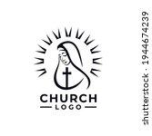 Holy Virgin Mary Logo Design...