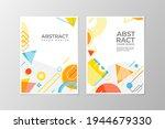 abstract memphis background...   Shutterstock .eps vector #1944679330