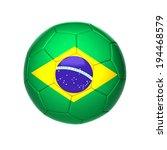 football ball with brazil flag... | Shutterstock . vector #194468579