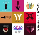 wine flat icons. vintage... | Shutterstock .eps vector #194470073