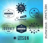 vintage summer holidays... | Shutterstock .eps vector #194471384