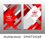 red and white grunge sports... | Shutterstock .eps vector #1944714169