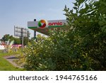 Small photo of Katwoice, Slaskie, Poland - 17 Jul 2020: AMIC petrol station at the corener of Brack St. and Chorzowska St. with gas station, KFC and Subway.