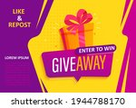 giveaway banner  calling to... | Shutterstock .eps vector #1944788170
