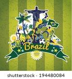 brazil background  | Shutterstock .eps vector #194480084