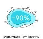 90 percent color bubble shape...   Shutterstock .eps vector #1944801949
