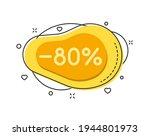 80 percent color bubble shape...   Shutterstock .eps vector #1944801973