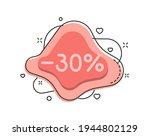 30 percent color bubble shape...   Shutterstock .eps vector #1944802129