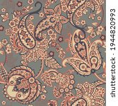 damask paisley seamless vector... | Shutterstock .eps vector #1944820993