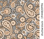 paisley seamless vector pattern.... | Shutterstock .eps vector #1944820996