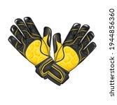 goalkeeper gloves. black and... | Shutterstock .eps vector #1944856360