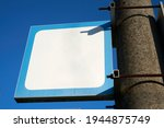 Blank White Sign With Text...