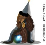 depiction of a long haired... | Shutterstock .eps vector #1944879559