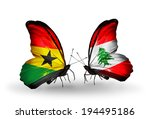 two butterflies with flags on... | Shutterstock . vector #194495186