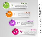 info graphic progress stickers... | Shutterstock .eps vector #194497616