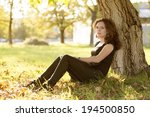 portrait of a beautiful  young... | Shutterstock . vector #194500850