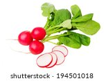 Fresh Radish Isolated On White...