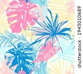 hand drawn grunge textured... | Shutterstock . vector #1945010689