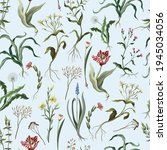 seamless pattern with wild thin ... | Shutterstock .eps vector #1945034056