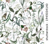 seamless pattern with wild thin ... | Shutterstock .eps vector #1945034140