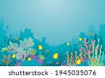 underwater  coral  sea anemone... | Shutterstock .eps vector #1945035076