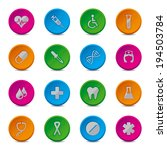 health new line buttons | Shutterstock .eps vector #194503784