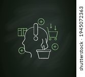 conscious consumer chalk icon.... | Shutterstock .eps vector #1945072363
