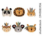 set of isolated cute  tribal...   Shutterstock .eps vector #1945081936