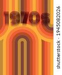 1970s background  vintage color ... | Shutterstock .eps vector #1945082026