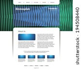 website template with abstract... | Shutterstock .eps vector #194508440