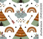 seamless pattern  with tribal...   Shutterstock .eps vector #1945133320