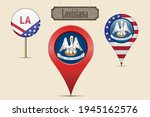louisiana us state round flag.... | Shutterstock .eps vector #1945162576