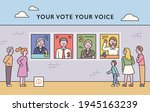 there are posters of candidates ... | Shutterstock .eps vector #1945163239