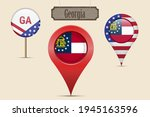georgia us state round flag.... | Shutterstock .eps vector #1945163596